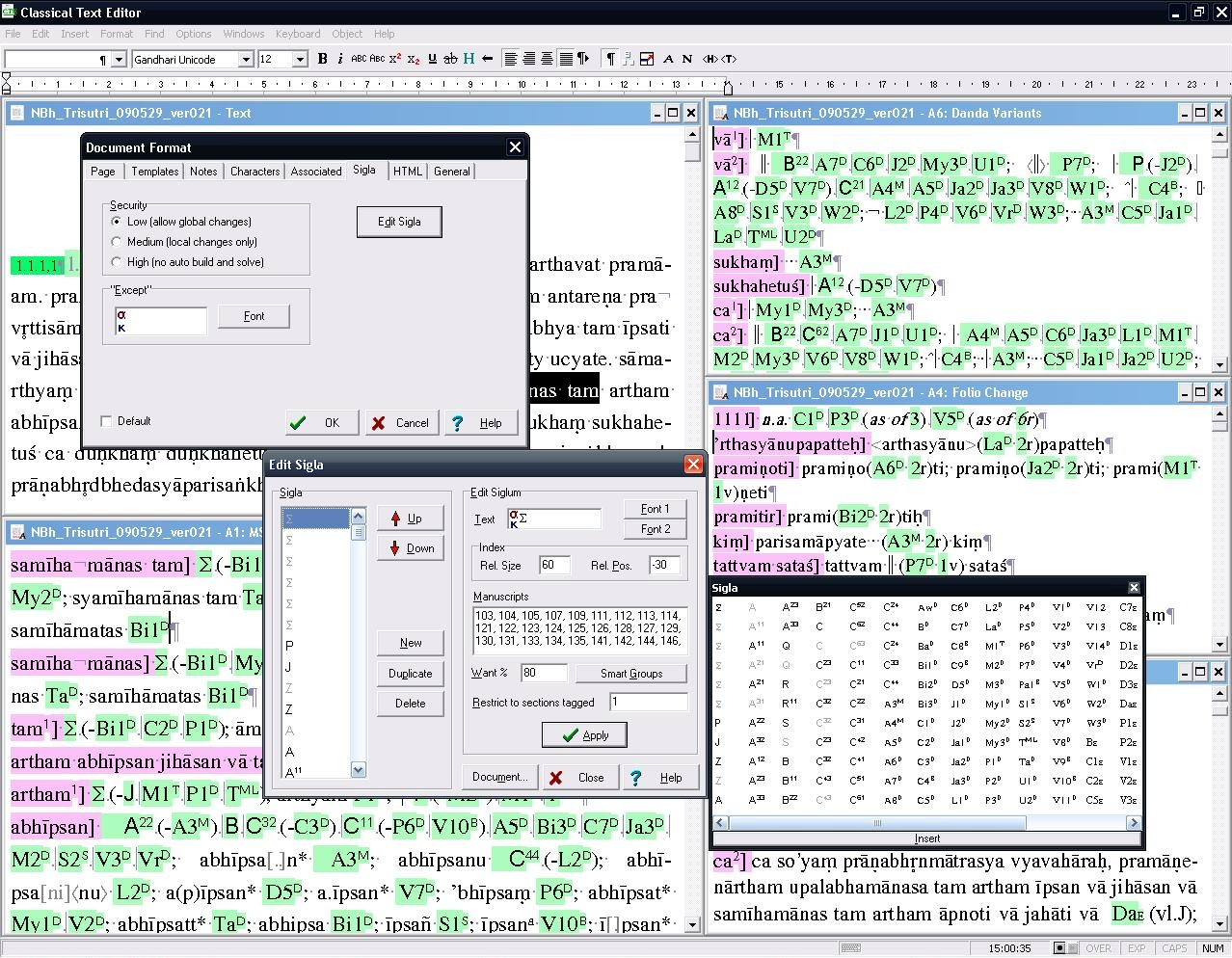 classical text editor